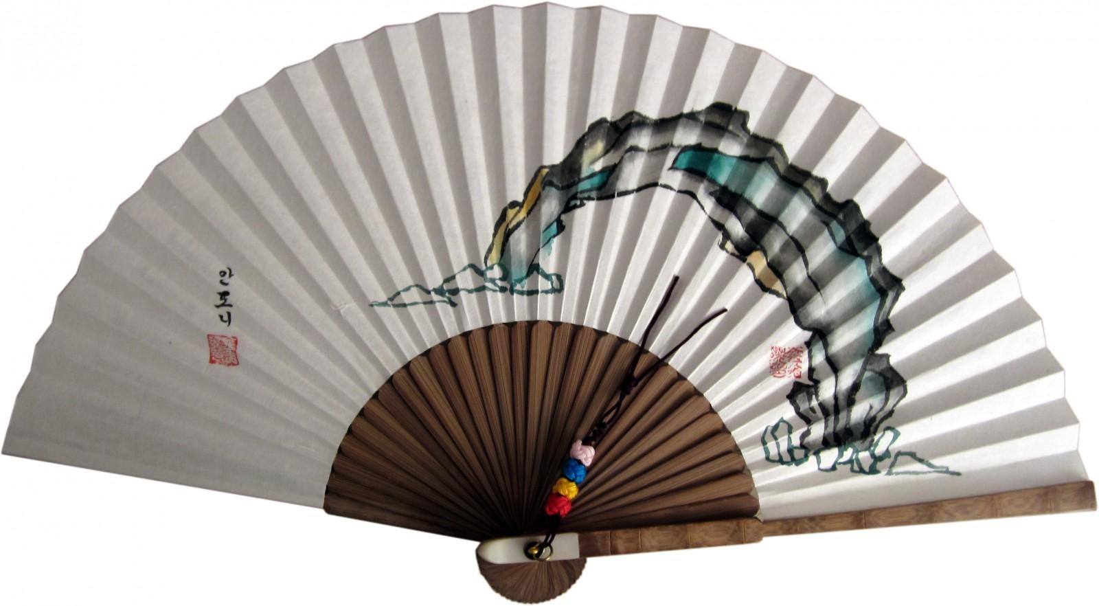 부채그림, 전통부채그림, Peinture sur l'eventail asiatique